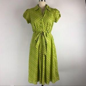 RB Collection Green Polka Dot Rockabilly Dress